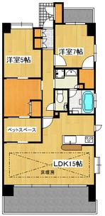 アーバンシティ裾野・伊豆島田 3階の間取り図