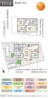 【ダイワハウス】セキュレア奈良富雄三碓 (分譲住宅)の間取り図