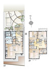 【ダイワハウス】まちなかジーヴォ花園町II 「家事シェアハウス」(分譲住宅)の間取り図