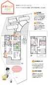 【ダイワハウス】セキュレア西条駅北IV 「家事シェアハウス」(分譲住宅)の間取り図