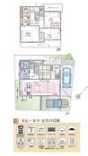 【ダイワハウス】まちなかジーヴォ大野城中央1丁目 (分譲住宅)の間取り図