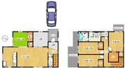 ラピュタ東山◆4号地◆新築戸建の間取り図