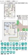 【ダイワハウス】セキュレアガーデン飯島緑丘町 (分譲住宅)の間取り図