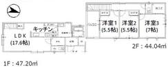 早良区賀茂2丁目1期 新築戸建の間取り図