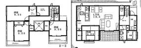 大野城市白木原4丁目 新築戸建の間取り図