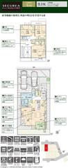 【ダイワハウス】セキュレア流山おおたかの森XVI C98街区(分譲住宅)の間取り図