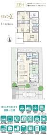 【ダイワハウス】まちなかジーヴォ帝塚山西 1号地(分譲住宅)の間取り図