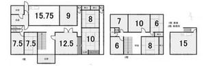 関市居敷町の間取り図
