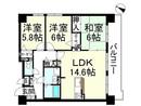 Mプラザ堅田駅前表通りの間取り図