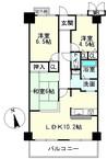 レイクイーストCITY弐番館グレーシィ稲枝の間取り図