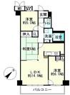 レイクイーストCITY壱番館グレーシィ稲枝東棟の間取り図