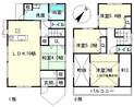 滋賀県彦根市古沢町の間取り図