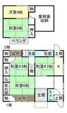 滋賀県長浜市地福寺町の間取り図