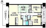 ロータリーマンション大津京パークワイツの間取り図