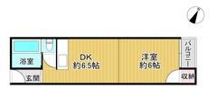 星田マンションの間取り図