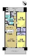 クレアコート池田城南イーストキャッスルの間取り図