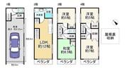 大阪府大阪市港区三先2丁目の間取り図
