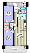 シャルマンフジビルト・モアー新深江駅前の間取り図