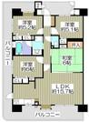 メロディーハイム枚方宮之阪の間取り図