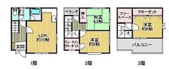 大阪府堺市西区鳳中町2丁の間取り図