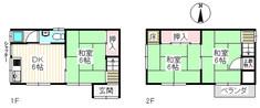 大阪府寝屋川市成美町の間取り図