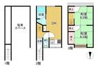 京都府京都市南区西九条東比永城町の間取り図