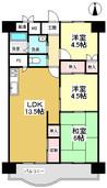 向島ニュータウン第3街区F棟の間取り図