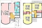 京都府京都市左京区岩倉木野町の間取り図