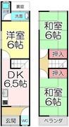 京都府京都市左京区山端森本町の間取り図