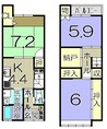 京都府京都市西京区桂木ノ下町の間取り図