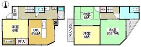 兵庫県神戸市北区有野町唐櫃の間取り図