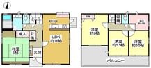兵庫県神戸市北区藤原台北町7丁目の間取り図