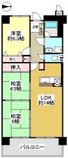 ライオンズマンション鈴蘭台弐番館の間取り図