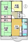鈴蘭台ハウス1号棟の間取り図