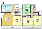 兵庫県神戸市北区鈴蘭台西町1丁目の間取り図