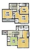 兵庫県神戸市北区鹿の子台南町4丁目の間取り図