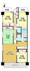 コスモ神戸緑町の間取り図