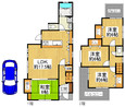 兵庫県尼崎市猪名寺1丁目の間取り図