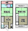 兵庫県川西市平野2丁目の間取り図