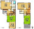 兵庫県神戸市須磨区桜木町1丁目の間取り図