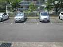 名谷13団地の駐車場