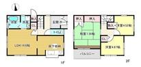 兵庫県姫路市飾磨区三宅1丁目の間取り図