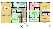 大阪府豊能郡能勢町平通の間取り図