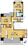 ライオンズマンション神戸第二の間取り図