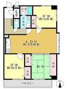 多摩永山第二スカイマンションの間取り図
