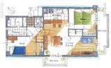 草加ガーデンハイツB棟の間取り図
