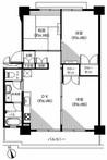 高島平第三住宅5号棟の間取り図