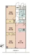 ライオンズマンション石神井公園の間取り図