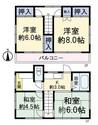 東京都八王子市石川町の間取り図