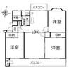 京王山田マンションB棟の間取り図